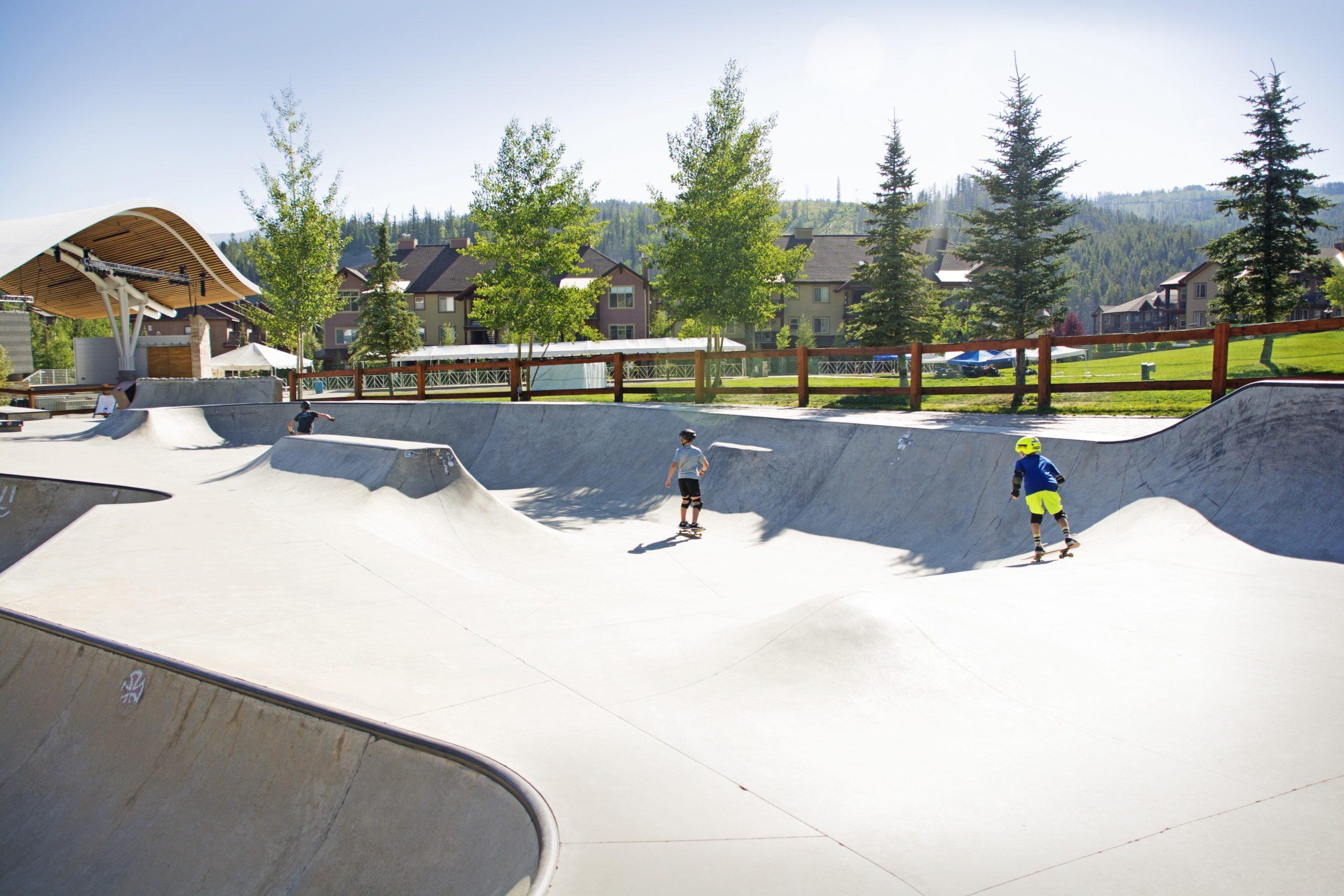 Children at Skate Park