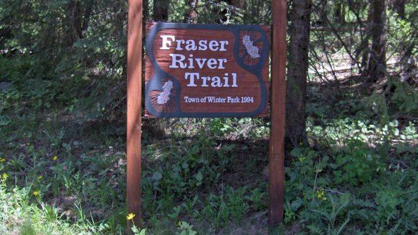 Fraser River Trail Sign